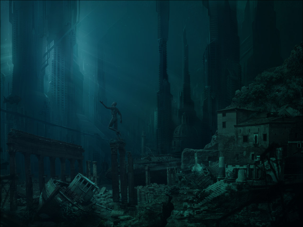 In search for the lost city of atlantis